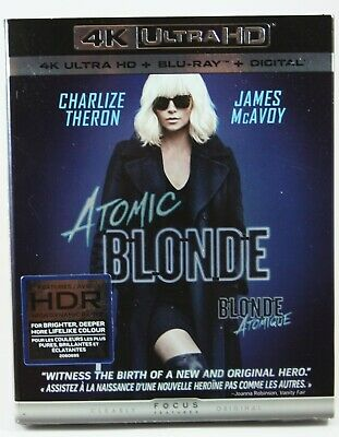 Atomic Blonde 4K Ultra HD + Blu-ray Digital BRAND NEW Slipcover Charlize Theron