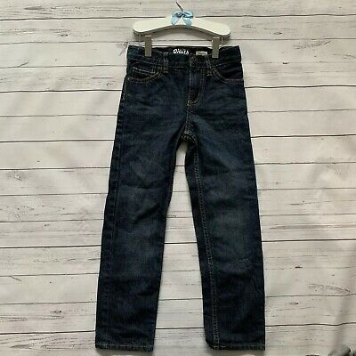 Boys 7 Years - Jeans - OSH KOSH B'GOSH Dark Navy Blue Denim Straight Leg