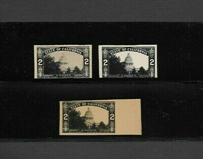 U.s. State Of California, Three Essay Stamps, Revenues For Distilled Spirits