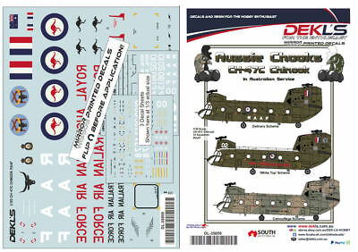Decals Australian CH-47C Chinook RAAF 12 SQN - 3 Options - 1/35 Scale