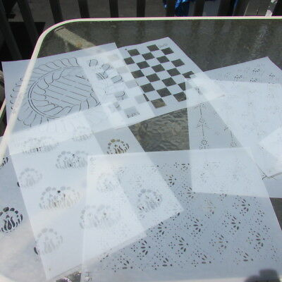 Quilt Templates Stencils Lot Floral Checkers Borders Flames Sun 9 Quilting