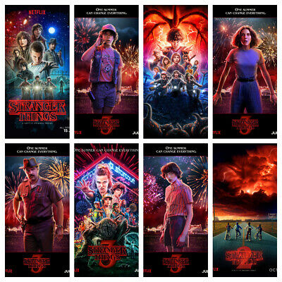 STRANGER THINGS Posters Wall Decor Season Characters Kids Room Eleven & More