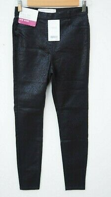 BNWT NEXT Ladies Black Snakeskin Print Pull On Legging / Jeggings Jeans UK 6