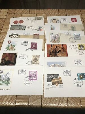 Austria First Day Cover Stamp Collection
