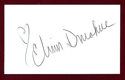 """Elinor Donahue Actress """"Father Knows Best"""", Andy Griffith Signed 3x5 Card C16164"""