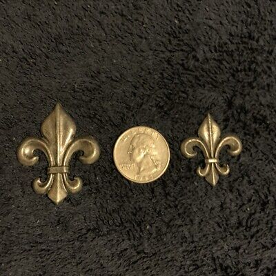 Pewter  FLEUR de LIS , Good For Jewelry Making , Crafts, Arts , 10- 50 Pieces