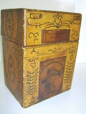 Georgian Antique Playing Card Box Extremely Rare Survivor Late 1700S Early 1800S