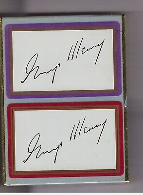 George Meany signature  double deck sealed playing cards