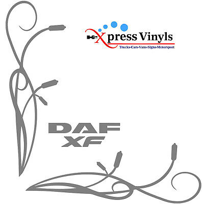 DAF XF truck cab window decals x 2. stickers graphics any colour