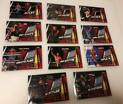 2019 Topps WWE Slam Attax 12th Universe: 11 x Ring Mat Relic Cards Bundle