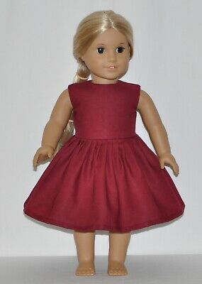 Wine Red Doll Dress Clothes Fits American Girl Dolls
