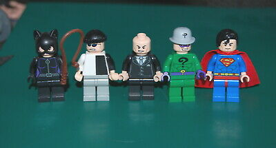 LEGO Super Hero MINIFIGURES Lot of 5! Authentic Minifig Marvel DC OOP Lot B