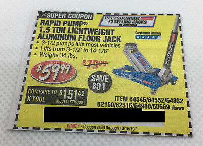 Ki9fc8493f Harbor Freight Tools Coupon 1 5 Ton Racing Floor Jack