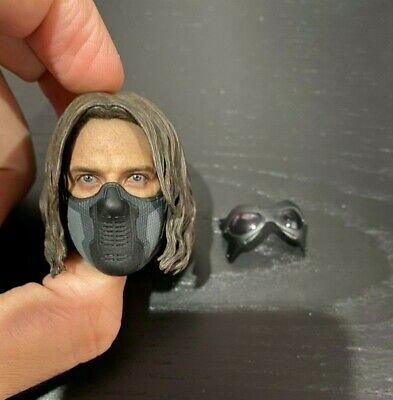 Hot Toys Captain America Bucky Winter Soldier Head Sculpt Mask & GogglYo MMS241