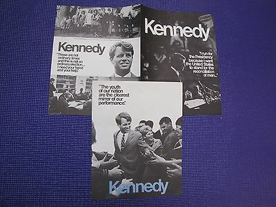 1968 Robert F. Kennedy ORIGINAL Presidential Campaign Literature - 6 pages