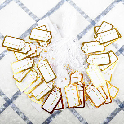 500Pcs Label Tie String Strung Jewelry Clothing Merchandise Display Price