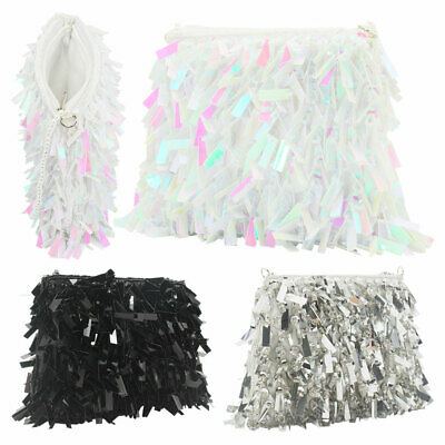 Best Gift Women Clutches Glitter Tassels Evening Bags Handbags Coin Key Purses