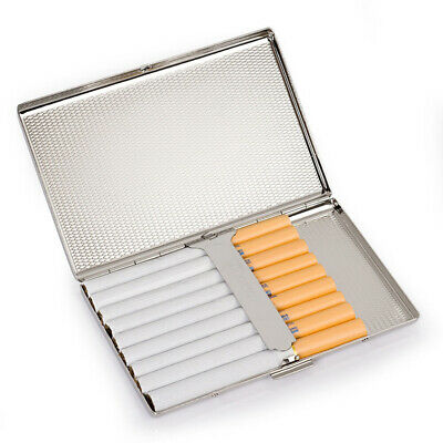 Ultra-thin Stainless Steel Metal Cigarette Case Holder Box for 100mm Cigarettes