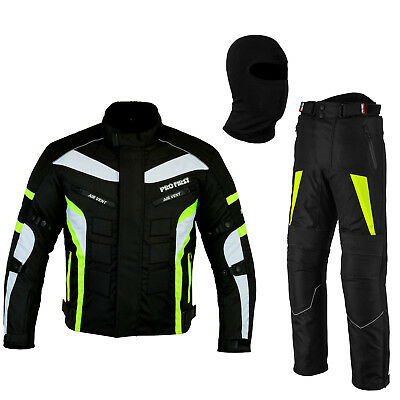 Motorbike Racing Suit Jacket Removable Armoured Waterproof Suit Free BALACLAVA