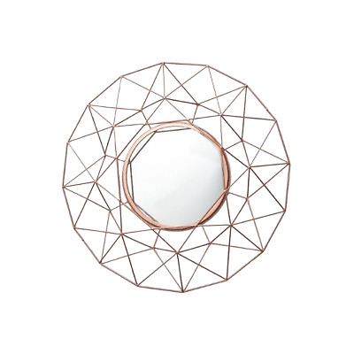 Large Geometric Style Rose Gold Wall Mirror by Cherish Home