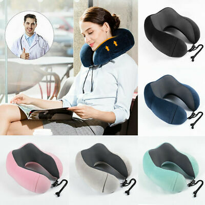 Memory Foam U-shaped Travel Pillow Airplane Neck Support Head Rest Cushion New