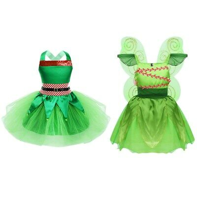 Child Girls Fairy Mesh Tutu Dress Costume Cosplay Fancy Dress Holloween Outfits
