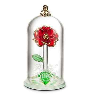 Beauty and the Beast Enchanted Rose Glass Sculpture by Arribas - Small NIB