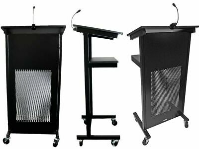 BLACK Rapidline Heavy Duty Lectern w/ Detachable Light LCT12 BL