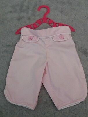 Baby Girls 96% Cotton Light Pink Trousers (3-6 Months) - By Next
