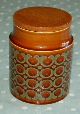 Vintage Hornsea Bronte Storage Jar with Lid. Brand New Rubber Seal to Lid. 1976.