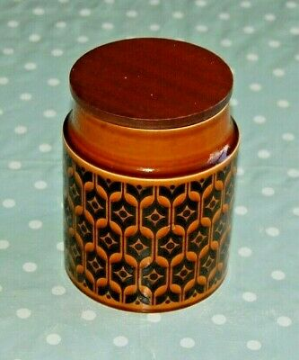 Vintage Hornsea Heirloom Storage Jar with Lid Brand New Rubber Seal to Lid. 1975
