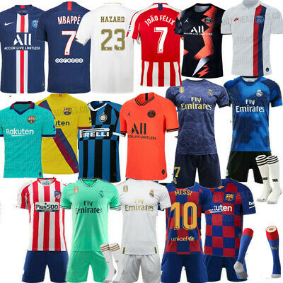 Custom Football Outfit Strip Youth Adult Kids Soccer Sports Training Jersey Kit