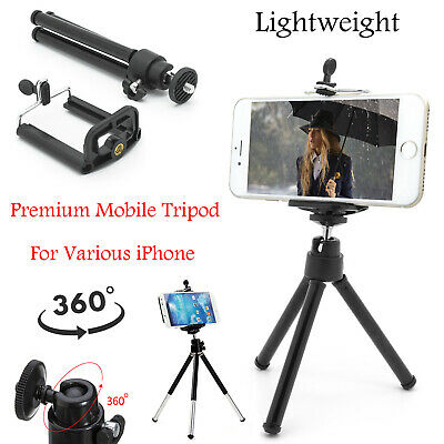 Universal Mini Mobile Phone 360° Tripod Stand Holder + Mount For Various iPhone