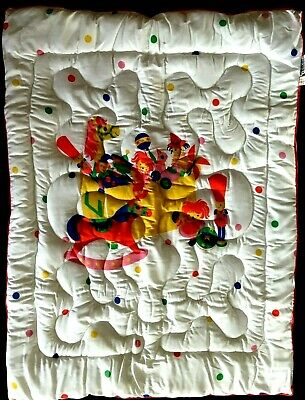 Vintage Dundee Quilted Baby Blanket Toy Chest 1984 Parsons Design Collection