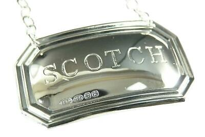 Sterling Silver VODKA BROADWAY /& Co Thistle DECANTER // Wine Label