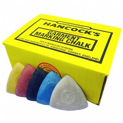 Hancock's Garment / Fabric Marking Tailors Chalk Triangles Assorted - Pack of 12