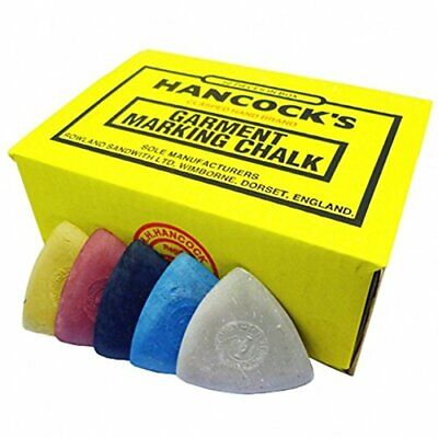 Hancock's Garment / Fabric Marking Tailors Chalk Triangles Assorted - Pack of 50