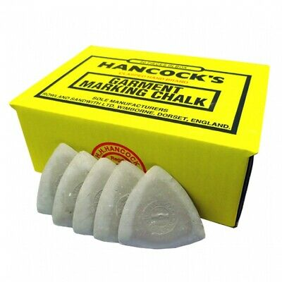 Hancock's Garment / Fabric Marking Tailors Chalk Triangles White - Pack of 12