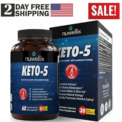 Ultra Fast Pure Keto-5 Boost Weight Loss Diet Pills Ketogenic Supplement keto-5