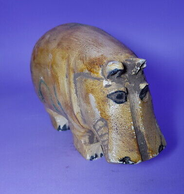 Giant Hippo Sculpture Egyptian Antique Taweret River Nile God Figurine Amulet