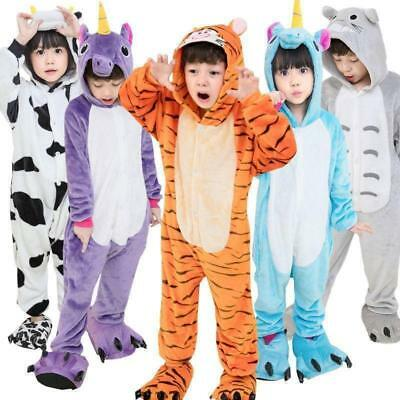 Unisex Kids unicorn Kigurumi Pajamas Anime Cosplay Party Costume onese Sleepwear