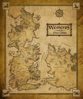 GAME OF THRONES Antique Map Westeros Essos HBO Meval ... Game Of Thrones Map Hbo on game of thrones maps and families, true detective hbo, game of thrones hbo series, deadwood hbo, game of thrones hbo store, game of thrones maps pdf,