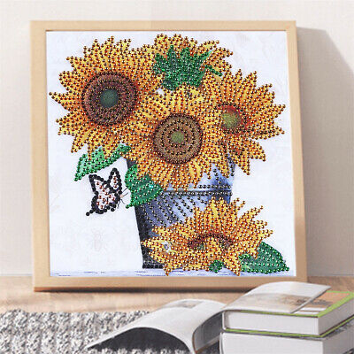 WO_ 25x25cm Unfinished Sunflower DIY Diamond Painting Home Wall Decor Gift Craft