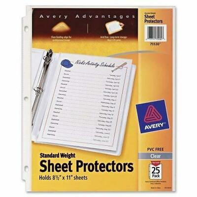 """Avery Standard Weight Clear Sheet Protectors, 8.5"""" x 11"""", Acid-Free, Archival .."""