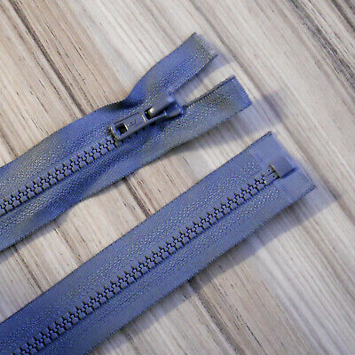 """GREY CHUNKY PLASTIC OPEN END ZIP -26""""/ 66 CM BEST QUALITY (No 5 weight)"""