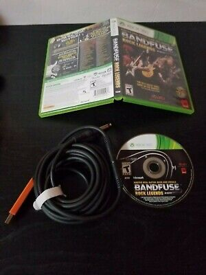 BANDFUSE ROCK LEGENDS for Xbox 360 Complete with Cable and ... on