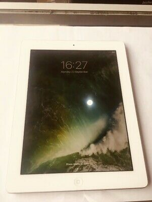 Apple iPad 4th Generation 16GB Wi-Fi 9.7in Retina Display White  Silver A1458