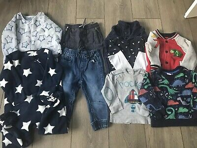 Baby Boy Jeans, Tops And Sleepsuit Bundle Age 12-18 Months