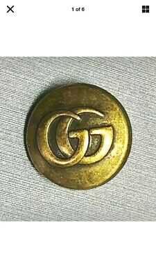 "3 Gucci Brass Buttons Authentic 12mm 1/2""🧵 (Perfect Blouse Blazer Earrings)"