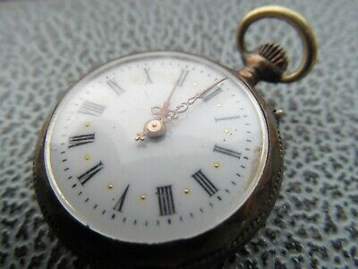 Antique very  small  800 silver pocket watch , Remontoir cylindre.